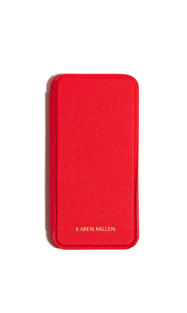 Karen Millen Folio Iphone Case- Red