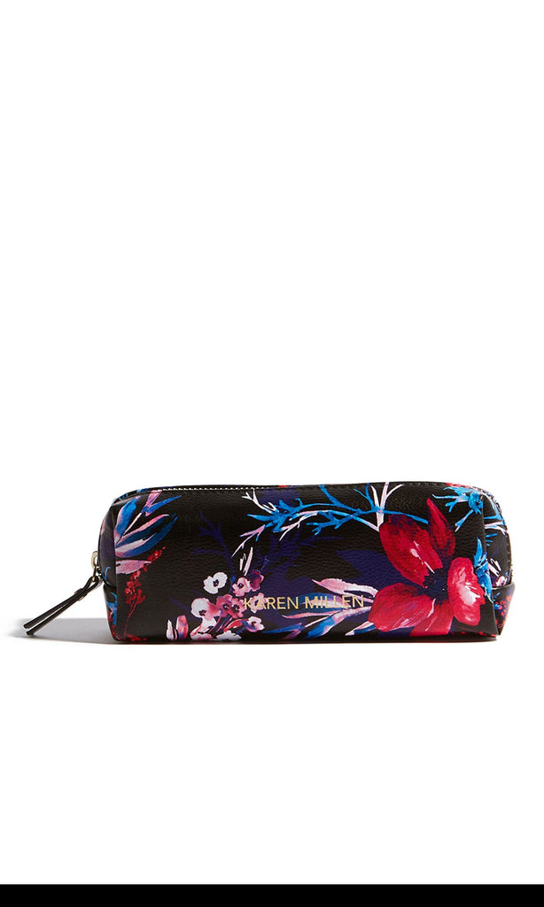 Karen Millen Floral Cosmetic Bag- Black Multi