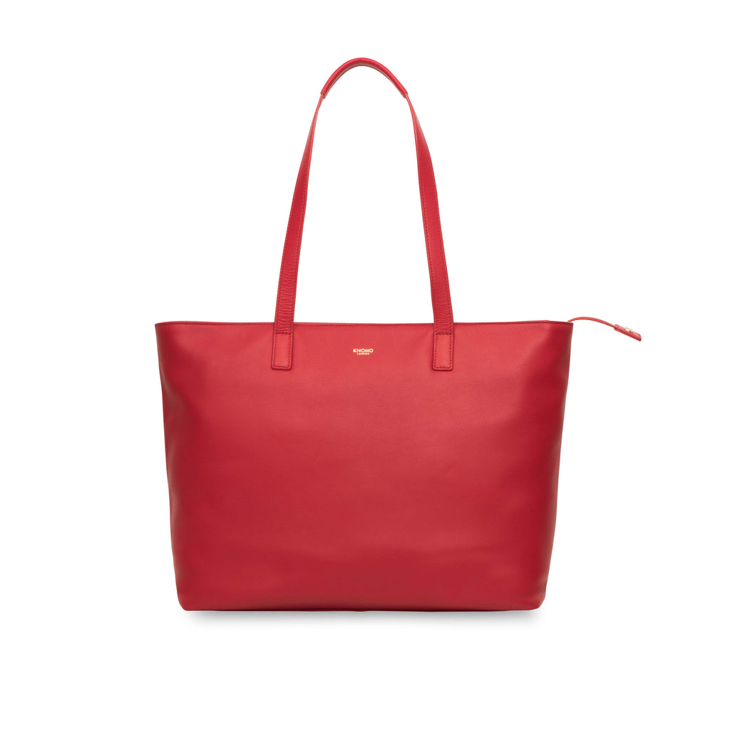 Knomo Maddox Zip Top Tote Bag- Red