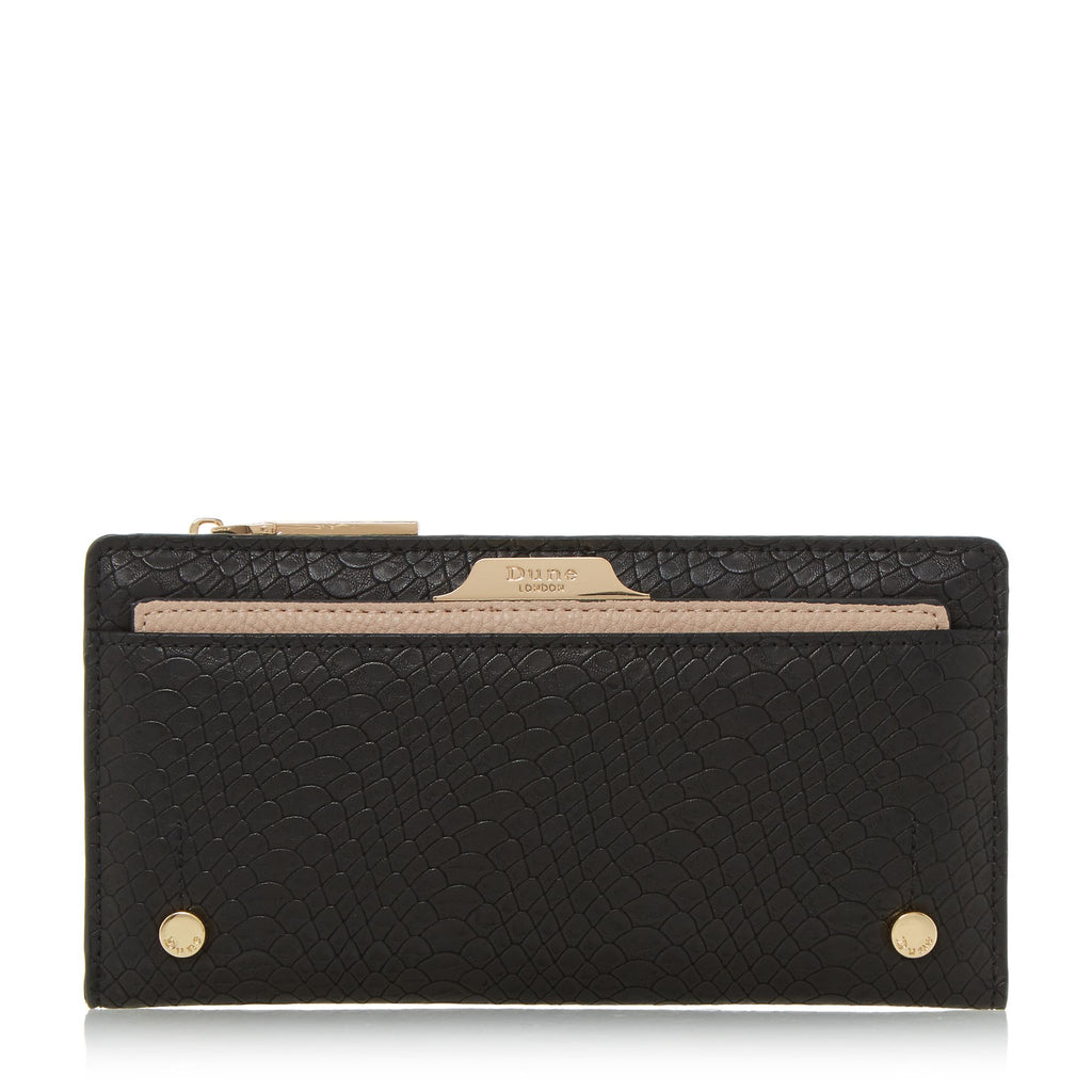 Dune Kerrie Purse With Removable Card Holder- Black
