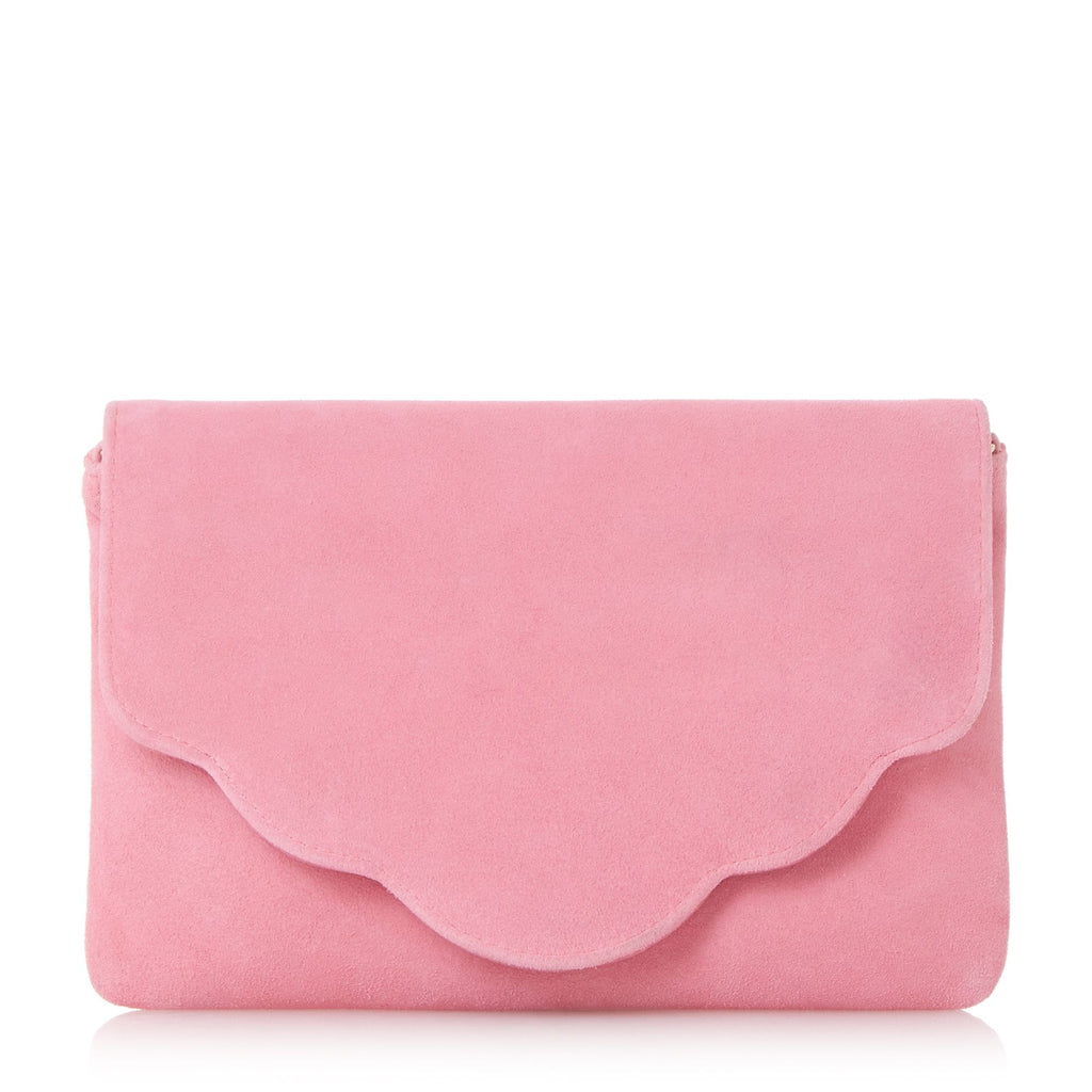 Dune BCURVE Scallop Edge Clutch Bag- Pink