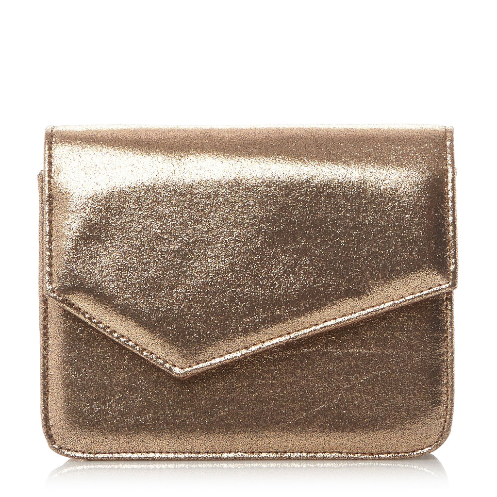 Head Over Heels Bonne Structured Clutch Bag- Rose Gold