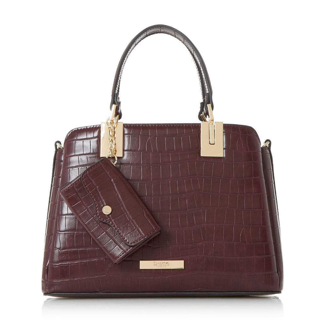 Dune Dinidillier small inverted gusset bag- Berry