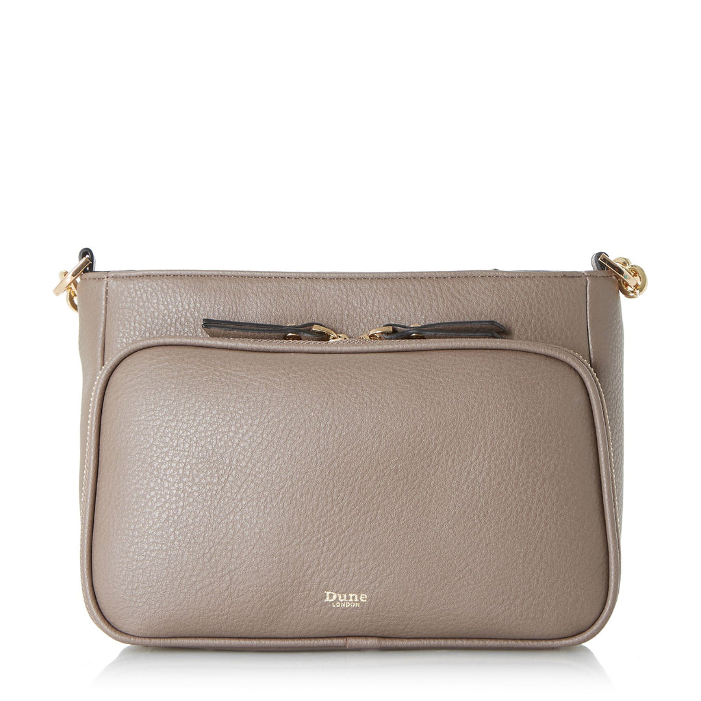 Dune Dorrea Small Zip Pocket Crossbody Bag- Grey