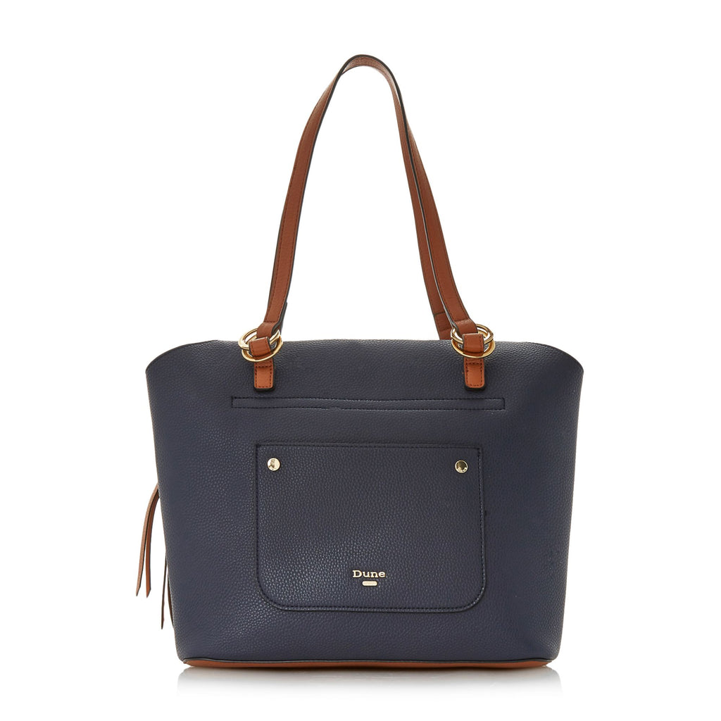 Dune Daniel Large Inset Gusset Bag- Blue