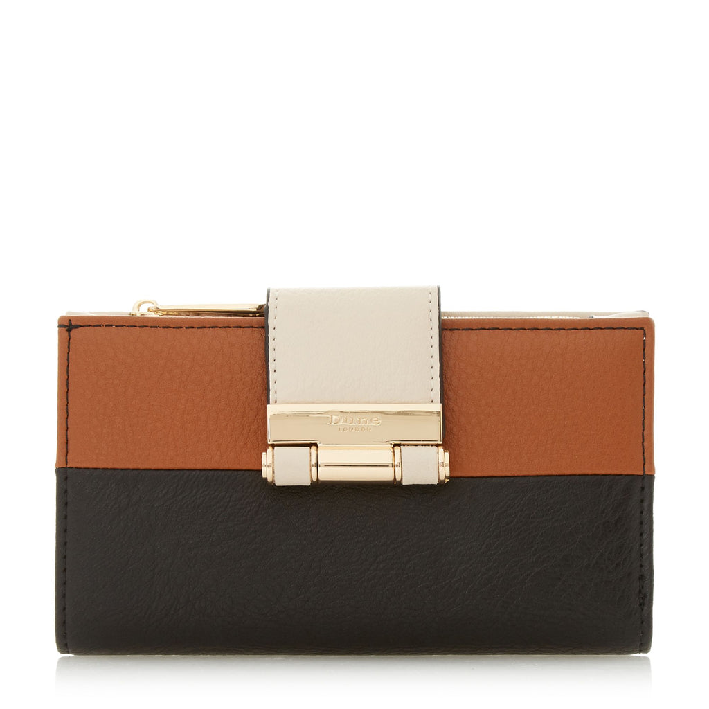 Dune Kandey Colourblock Roller Purse- Black