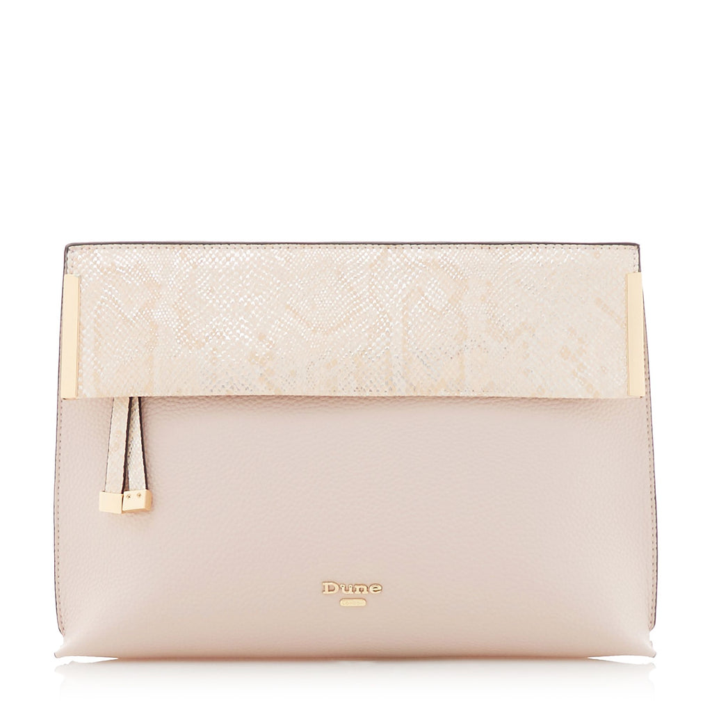 Dune Eccles Fold Over Clutch Bag- Pink