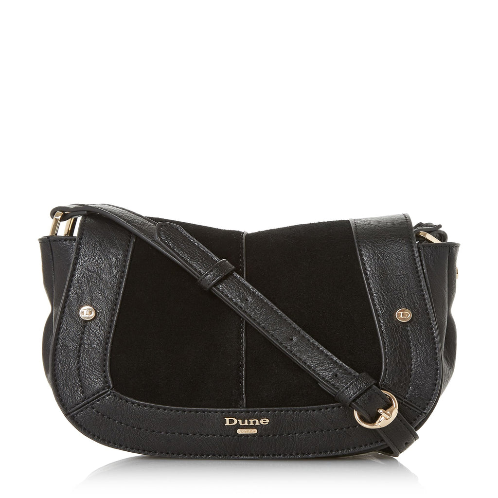 Dune Diego Small Saddle Bag- Black