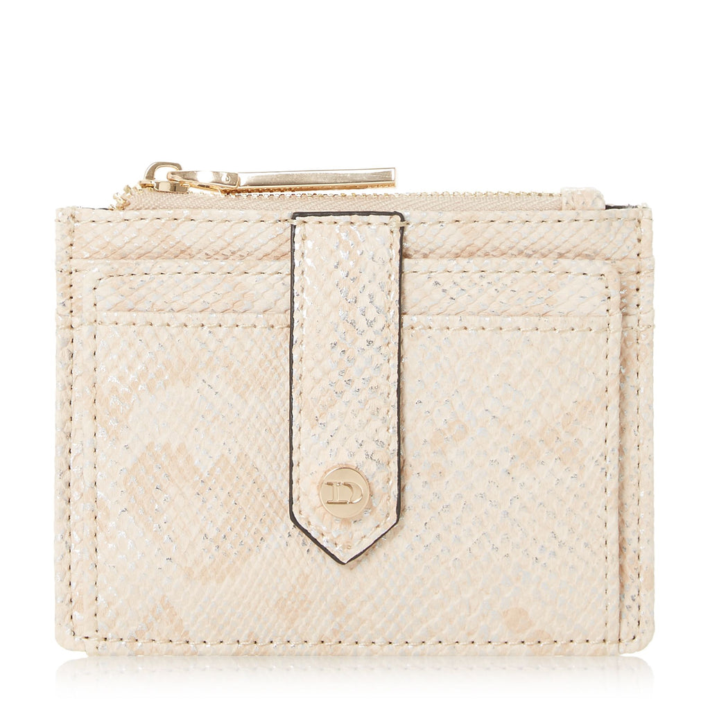 Dune Kollie Zip Top Card Holder- Pink