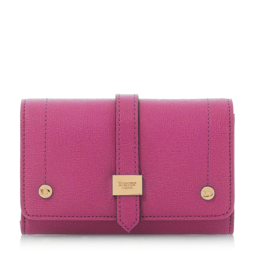 Dune Kophie Small Foldover Purse- Pink