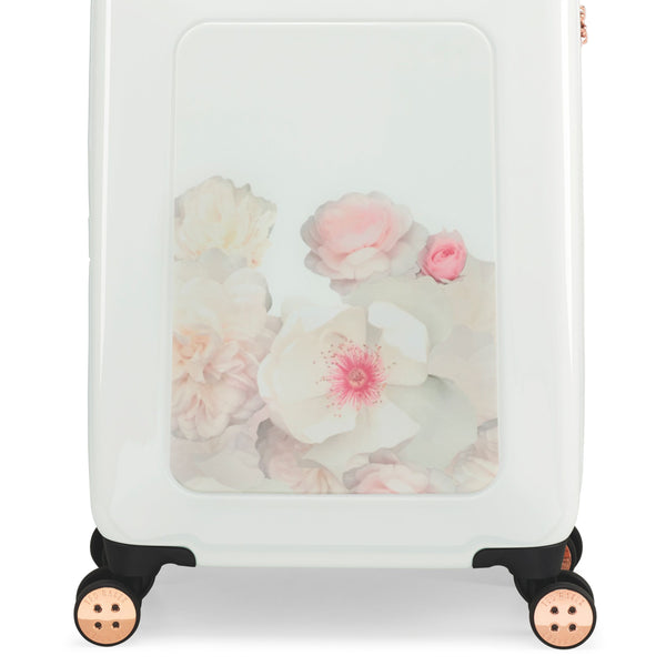 Ted Baker Chelsea Floral 4 Wheel Cabin Case- White