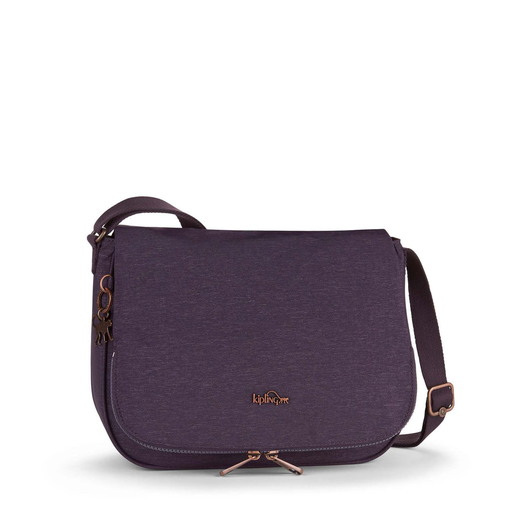Kipling Earthbeat medium shoulder bag- Purple