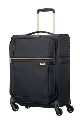 Samsonite Uplite Black & Gold 55cm Cabin Spinner Suitcase- Black
