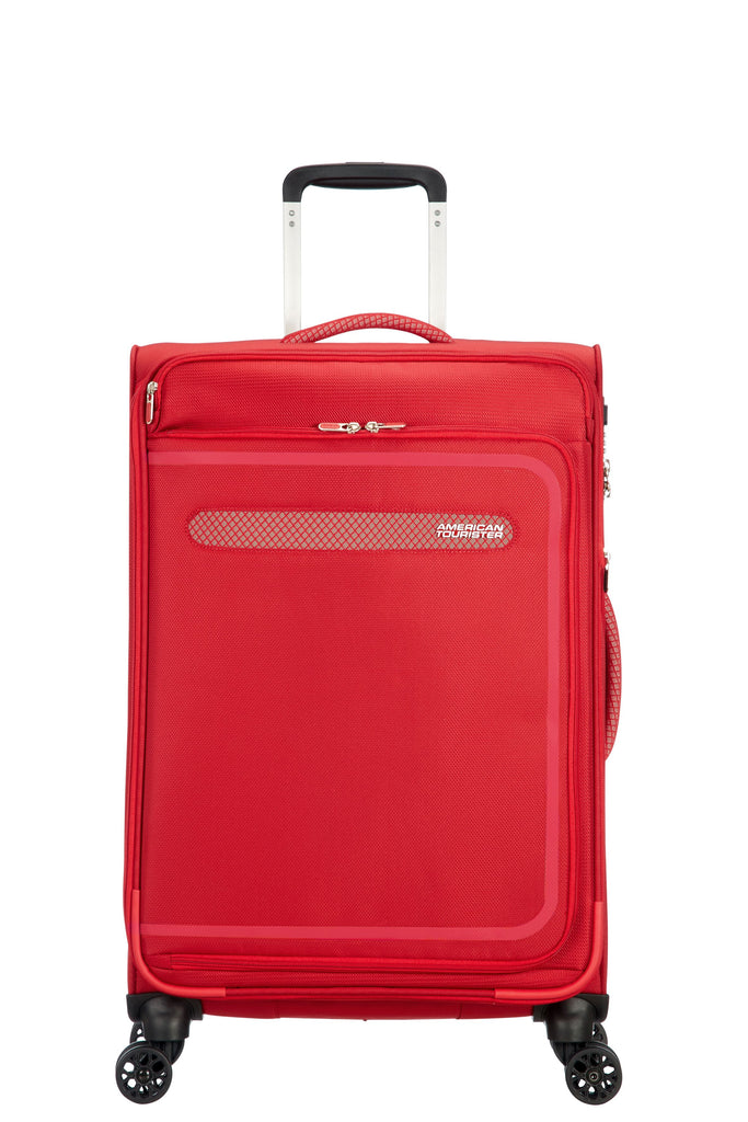 American Tourister Airbeat 68cm Medium Red Suitcase- Red