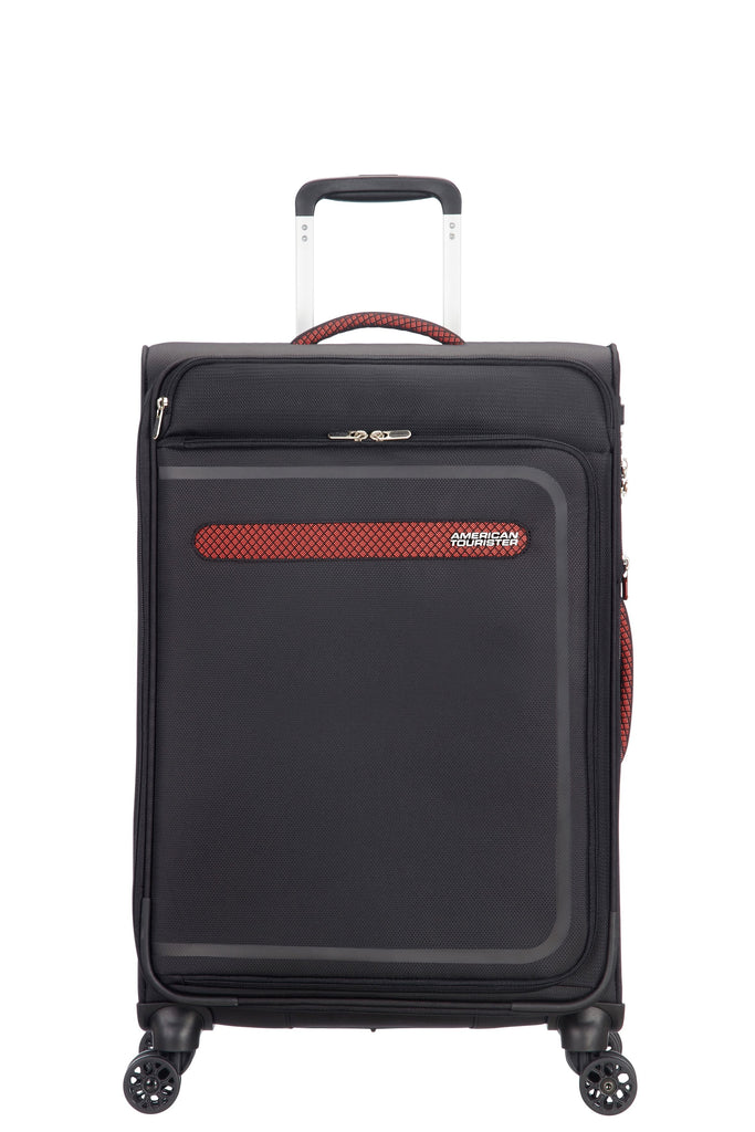 American Tourister Airbeat 68cm Medium Black Suitcase- Black