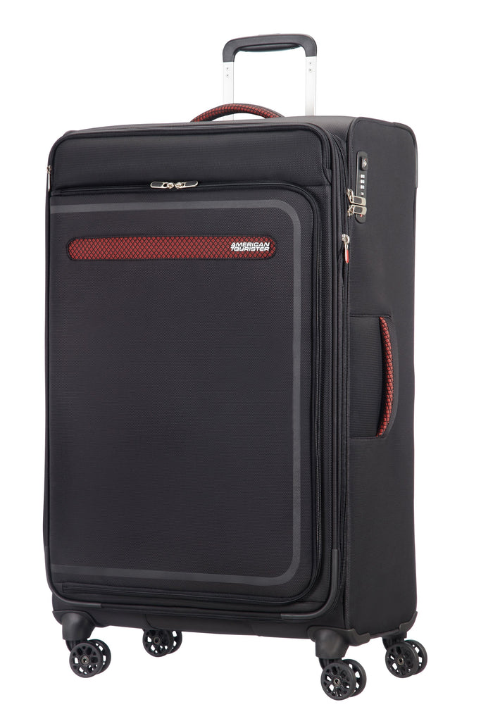 American Tourister Airbeat 80cm Large Black Suitcase- Black