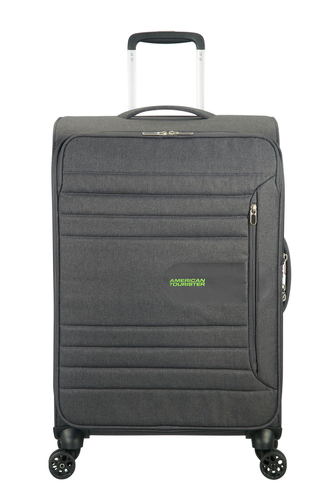 American Tourister Sonic Surfer 80cm Large Grey Spinner Suitcase- Grey
