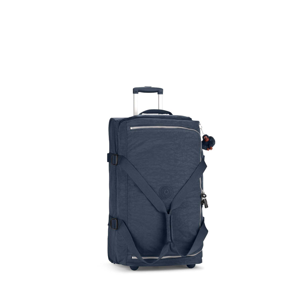 Kipling Teagan medium wheeled duffle bag- Blue