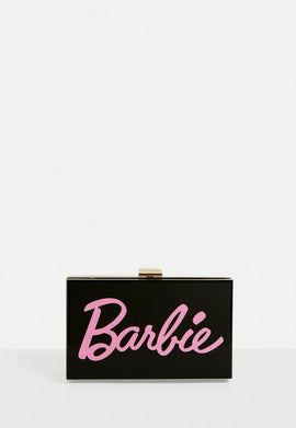 Barbie X Missguided Black Perspex Box Bag- Black