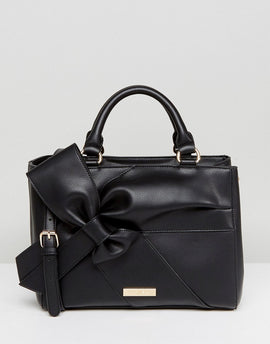 Carvela Rhian Tote Bag With Oversized Bow Detail - Black