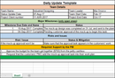 Daily Update Template Excel