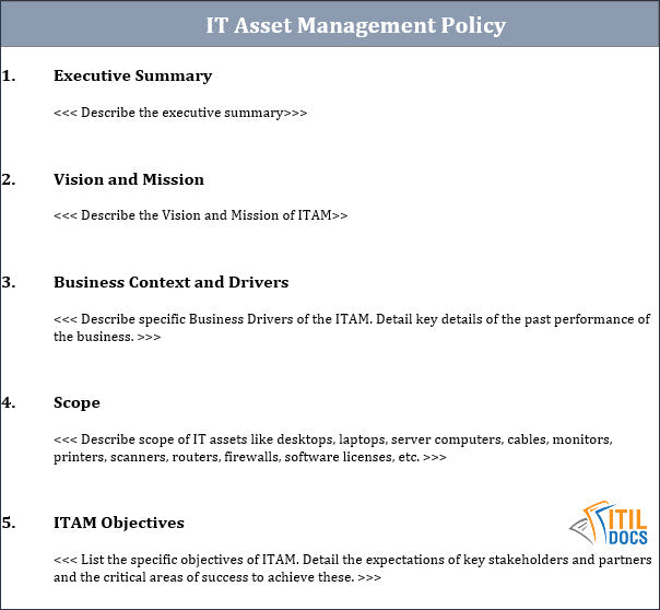 IT Asset Management Policy