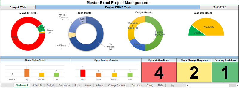 Master Excel Project Management