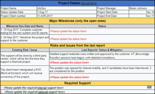 Project Status Reports  (24 templates)