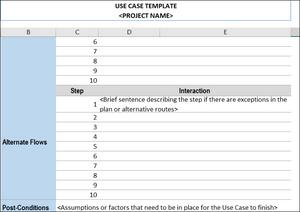 Use Case Template Excel