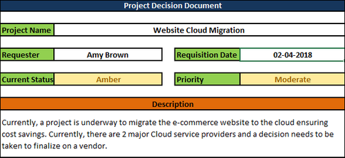 Project Decision Document