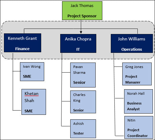 Project Team Structure Template