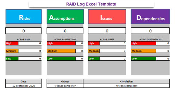 RAID Log Excel Template