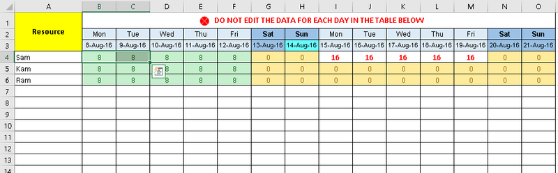 Task Tracker Excel Template