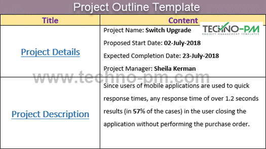 Project Outline Template Word with an Example
