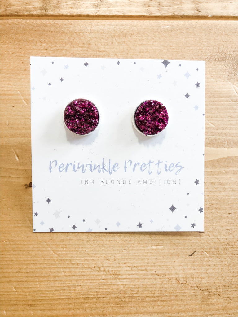 12mm Towering Twinkle Earrings - Merlot #15