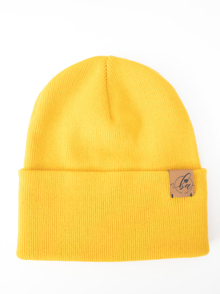 Basic Cuff Toque - Sunshine