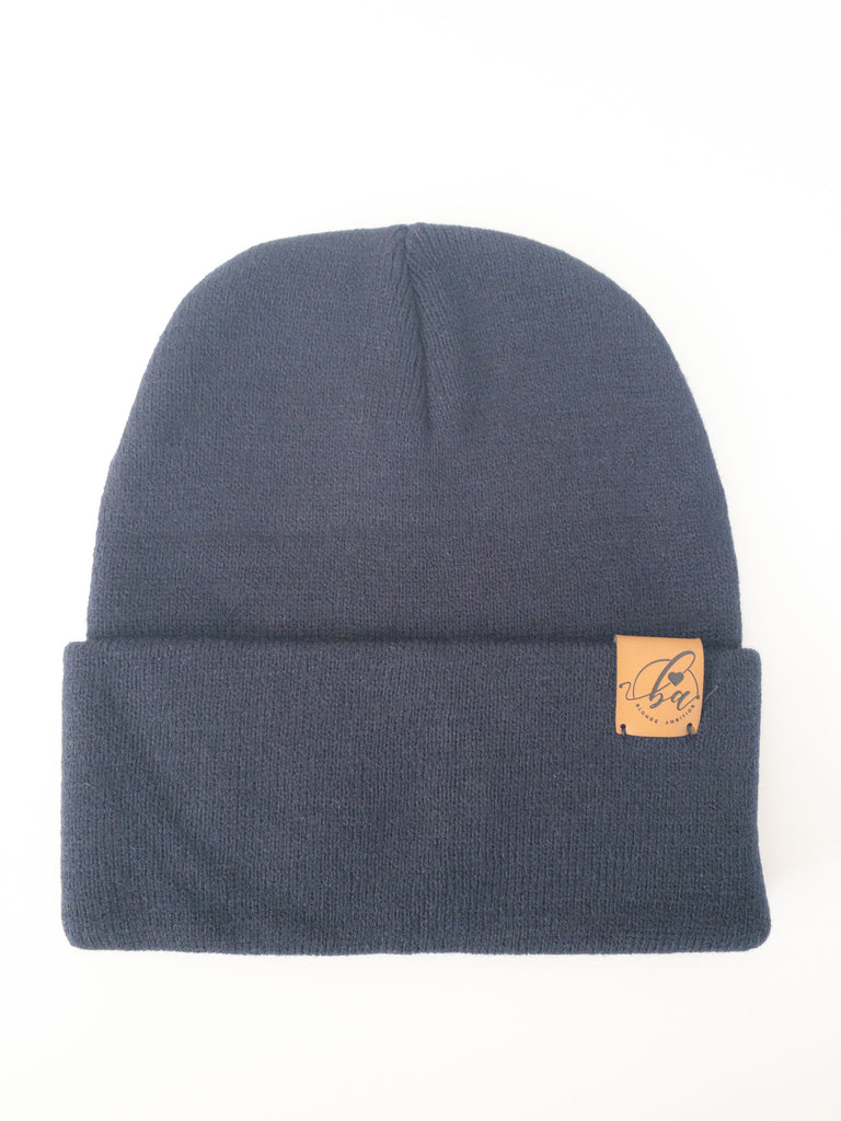Basic Cuff Toque - Navy