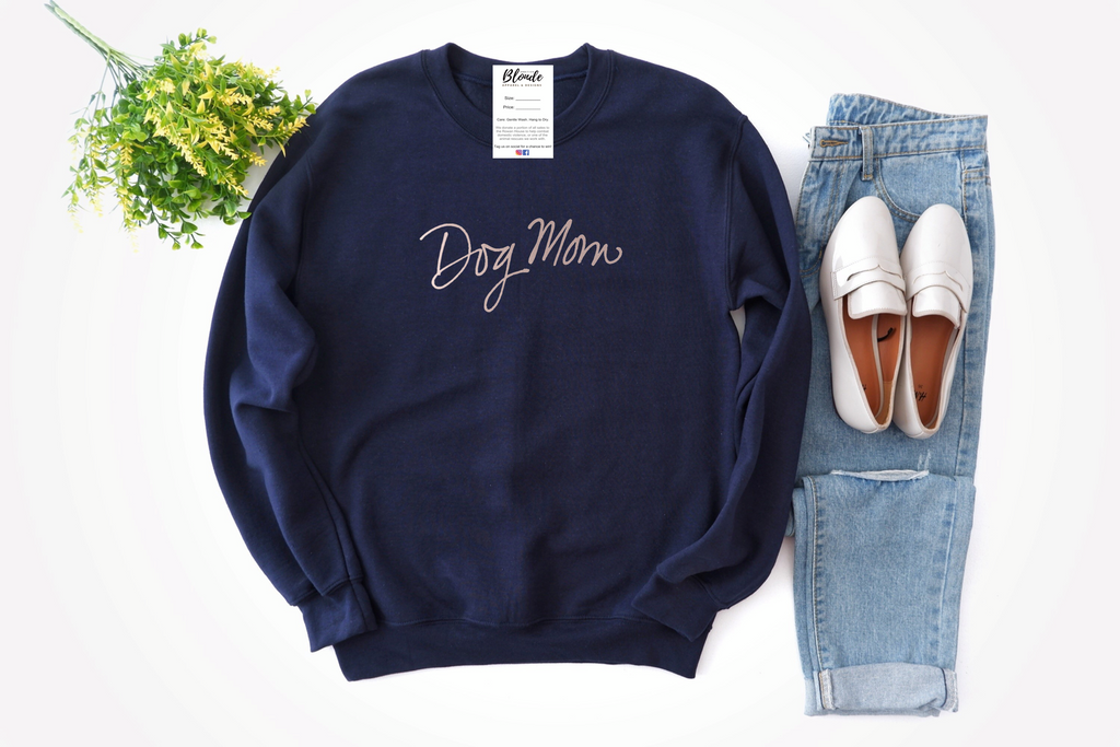 Dog Mom Cozy Crew Neck Sweater (Multiple Colors)