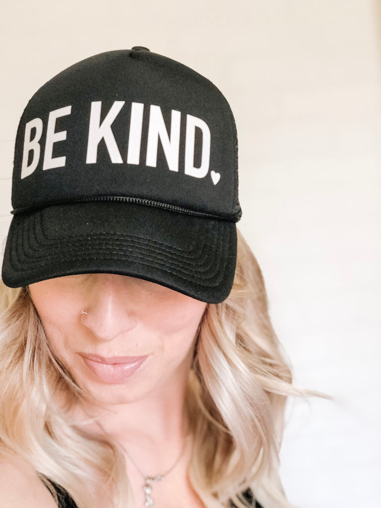 Be Kind Cap - Black & White - Blonde Ambition