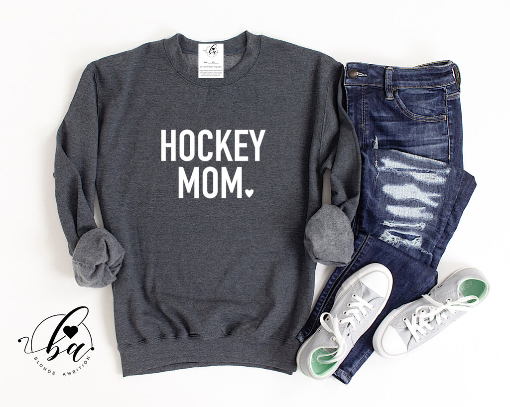 Hockey Mom Cozy Crew Neck Sweater