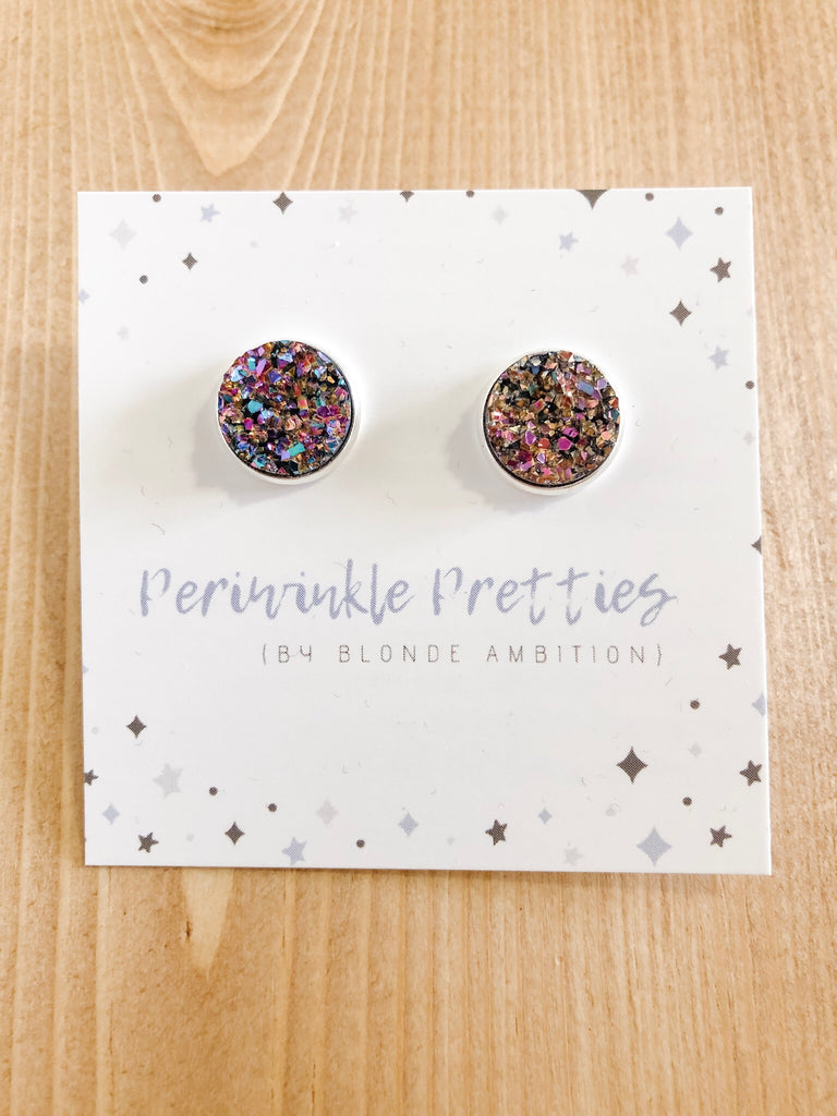 12mm Towering Twinkle Earrings - Bronze Glow #54 - Blonde Ambition