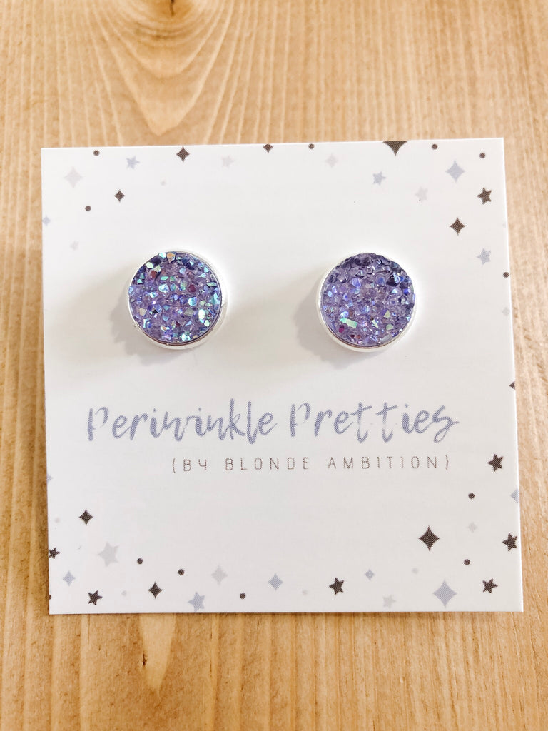 12mm Towering Twinkle Earrings - Lavender #50 - Blonde Ambition