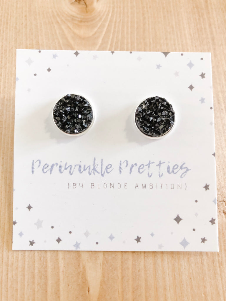 12mm Towering Twinkle Earrings - Black #48 - Blonde Ambition