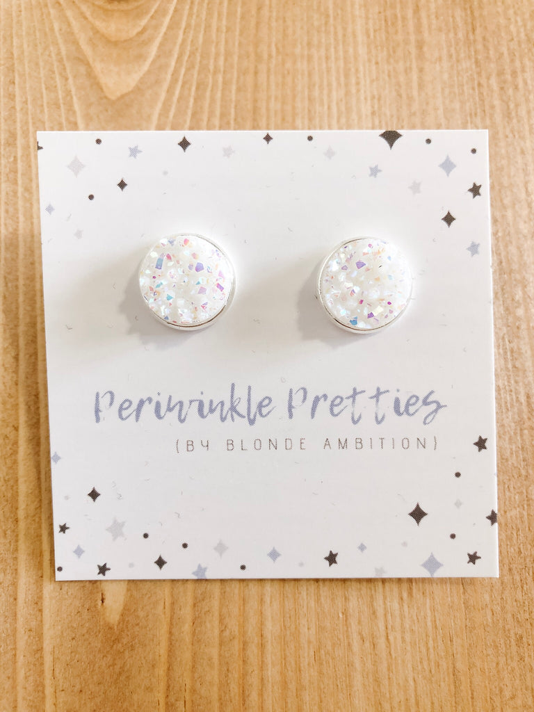 12mm Towering Twinkle Earrings - White Glow #58 - Blonde Ambition