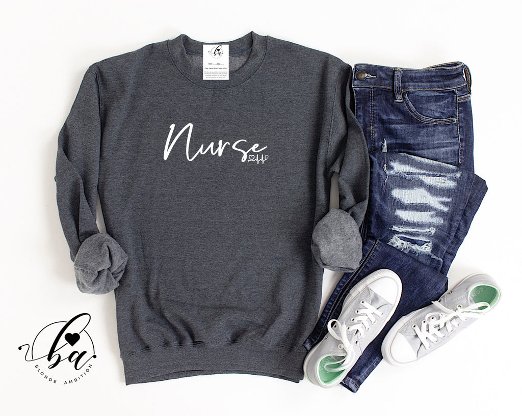 Nurse Cozy Crew Neck Sweater