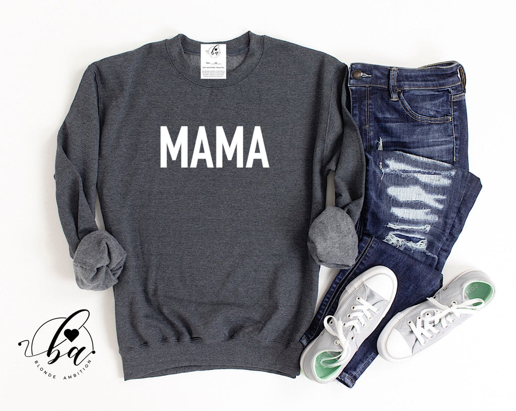 MAMA {BOLD} Cozy Crew Neck Sweater