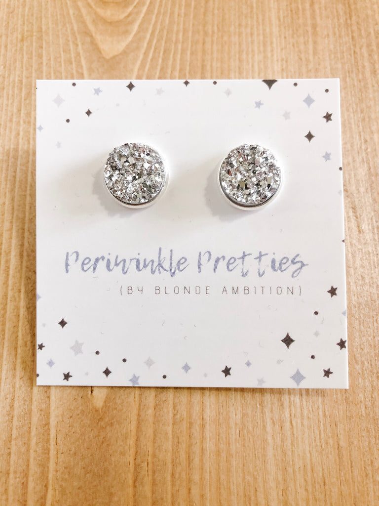 12mm Towering Twinkle Earrings - Chrome #53 - Blonde Ambition