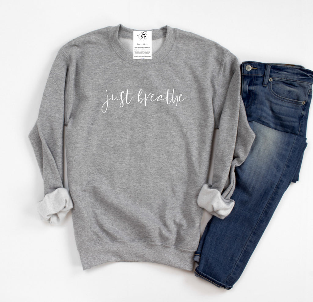 Just Breathe Cozy Crew Neck Sweater