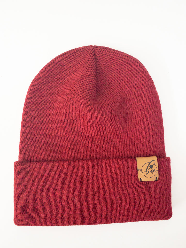 Basic Cuff Toque - Burgundy