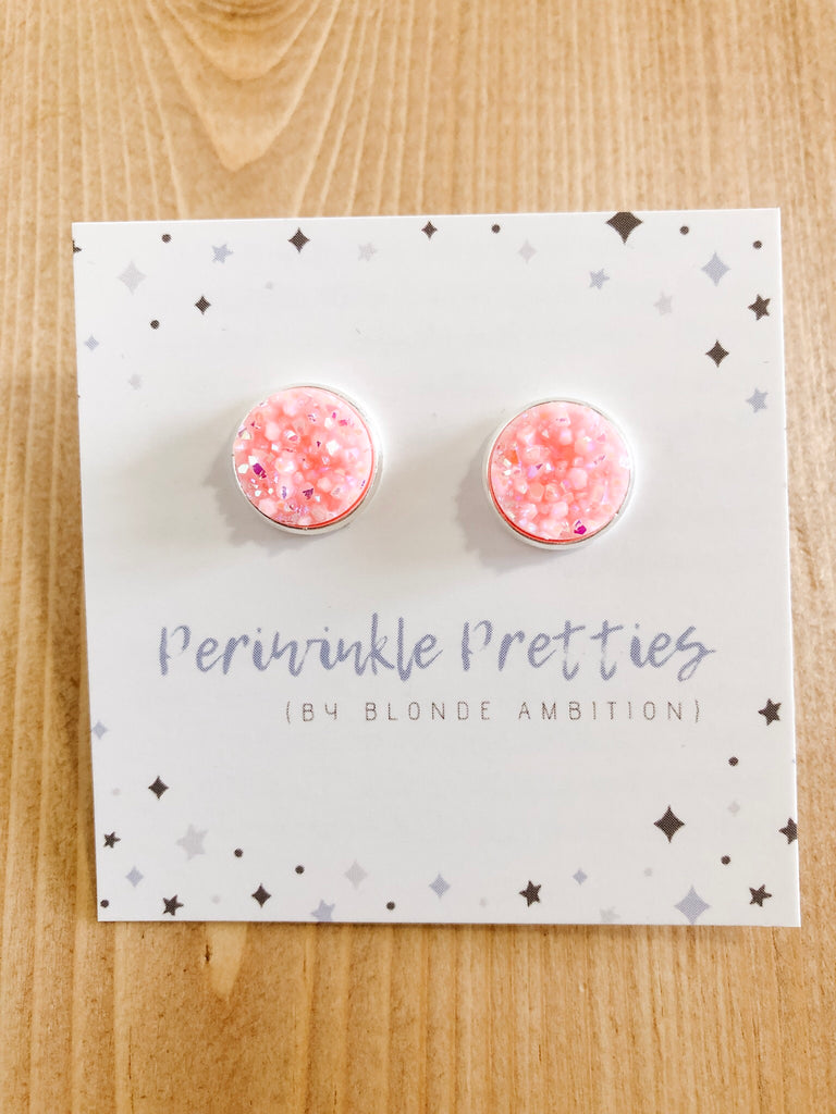 12mm Towering Twinkle Earrings - Rose #56 - Blonde Ambition